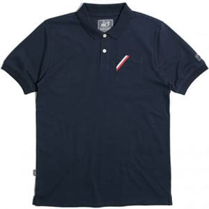 PEACEFUL HOOLIGAN ERNEST POLO NAVY FRONT