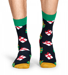 HAPPY SOCKS SINGING CHRISTMAS GIFT BOX CALZE 2 PAIO
