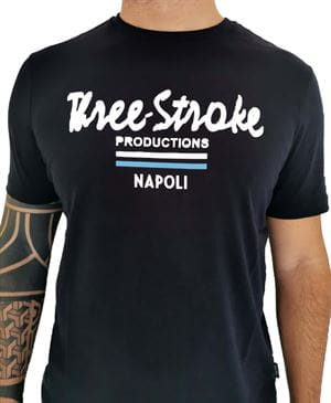 THREE STROKE PRODUCTIONS NAPOLI GATE 109 MAGLIA BLU NAVY FRONTALE