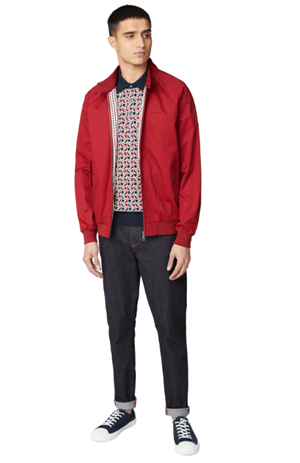BEN SHERMAN SIGNATURE HARRINGTON JACKET ROSSO FRONTALE INTERA