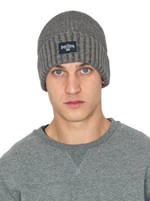 THREE STROKE PRODUCTIONS AW20 JACKIE BEANIE GREY FRONT