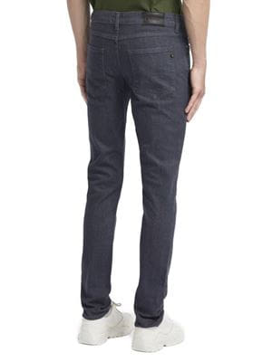 DRAKE SLIM FIT STRETCH JEANS GRAY BACK