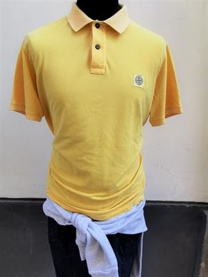 STONE ISLAND POLO SLIM FIT GIALLO SPENTO XXL