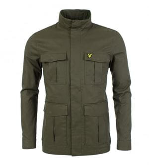 LYLE AND SCOTT FIELD GIACCA UOMO KHAKI FRONTALE