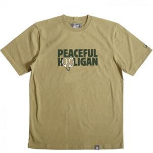 PEACEFUL HOOLIGAN CUFFS T-SHIRT UOMO VERDE