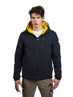 THREE STROKE PRODUCTIONS AW20 FRONTIER NAVY JACKET FRONT