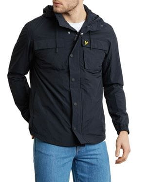 LYLE AND SCOTT LIGHTWEIGHT POCKET JACKET BLACK FRONT