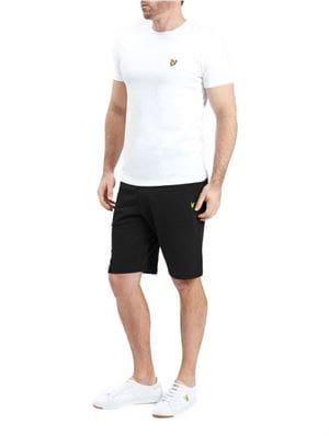 LYLE AND SCOTT SWEAT BERMUDA UOMO NERO FRONTALE