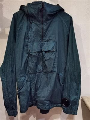 CP COMPANY GOGGLE JACKET VINTAGE PETROLEUM FRONT