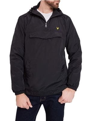 LYLE AND SCOTT  PULLOVER ANORAK GIACCA NERO FRONTALE