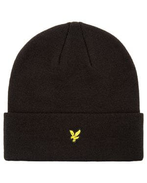 LYLE AND SCOTT BEANIE CAPPELLO NERO