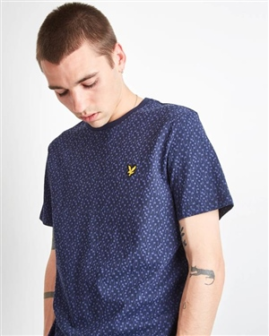 LYLE AND SCOTT PRINT T-SHIRT NAVY MAN
