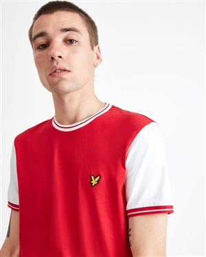 LYLE AND SCOTT TIPPED T-SHIRT MAN RED