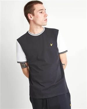 LYLE AND SCOTT TIPPED T-SHIRT MAN BLACK