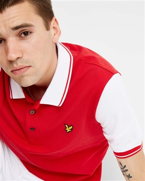 LYLE AND SCOTT TIPPED POLO SHIRT MAN