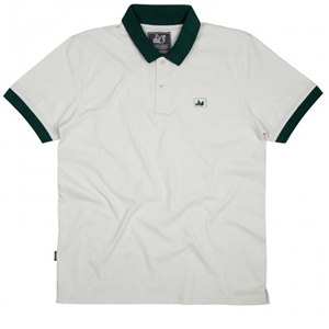 PEACEFUL HOOLIGAN DAXTON POLO BIANCO VERDE UOMO FRONTALE